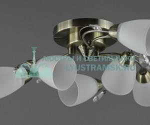 Люстра потолочная LyustraMsk ЛС 062 на 6 рожков, бронза