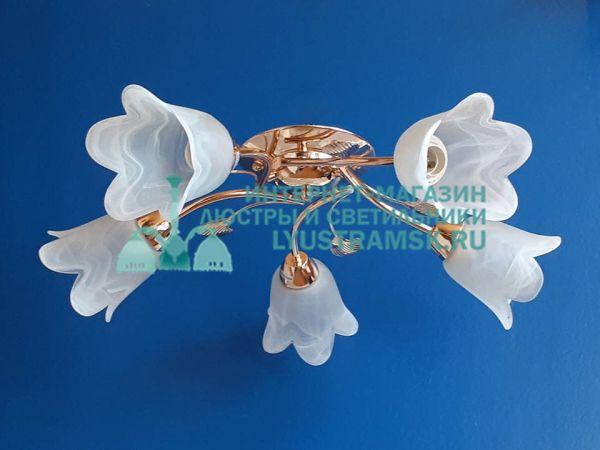 Люстра потолочная LyustraMsk ЛС 087 на 5 рожков, золото