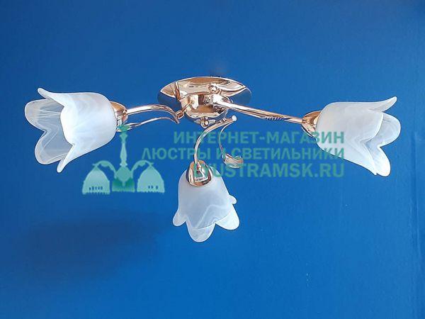 Люстра потолочная LyustraMsk ЛС 087 на 3 рожка, золото