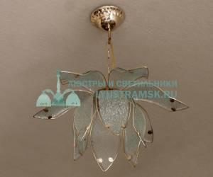 Люстра подвесная LyustraMsk Лотос ЛС 164 на 1 лампу, золото