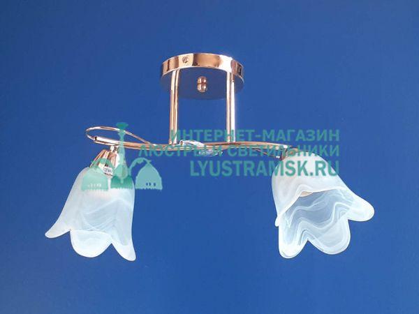 Люстра потолочная LyustraMsk ЛС 187 на 2 плафона, золото