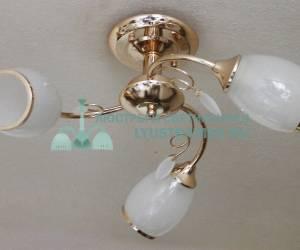 Люстра потолочная LyustraMsk ЛС 198 на 3 рожка, золото