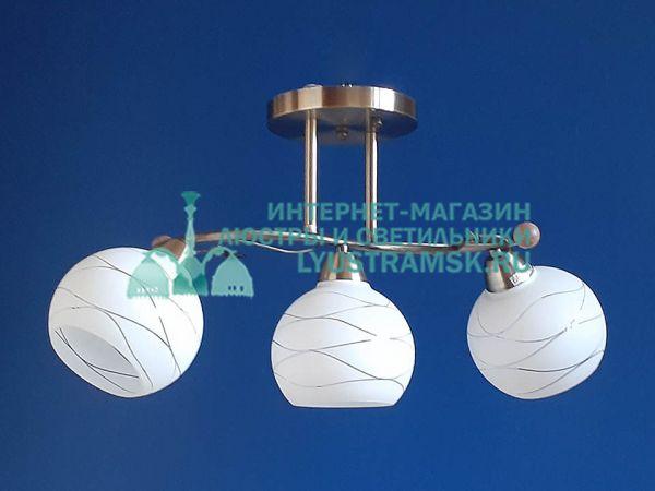 Люстра потолочная LyustraMsk ЛС 105 на 3 рожка, бронза