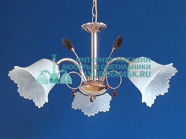 Люстра подвесная LyustraMsk ЛС 194 на 3 плафона, золото