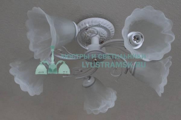 Люстра потолочная LyustraMsk ЛС 655 на 5 рожков, белый