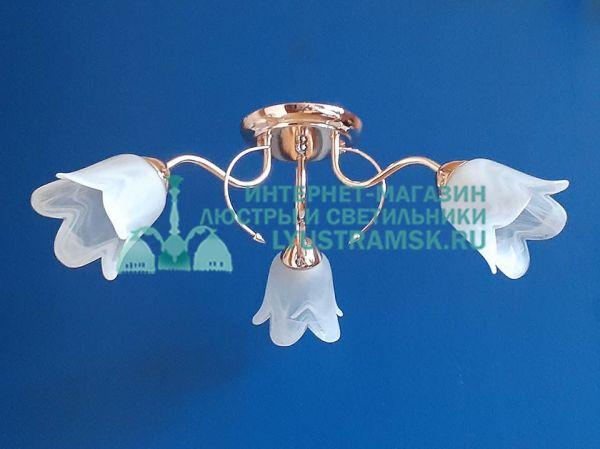 Люстра потолочная TinKo ЛС 537 на 3 рожка золото