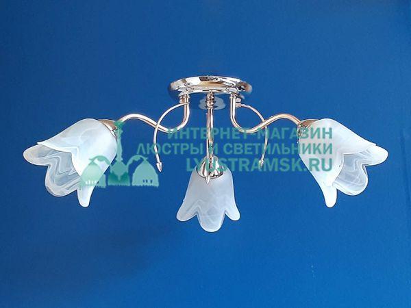 Люстра потолочная TinKo ЛС 533 на 3 рожка золото/хром