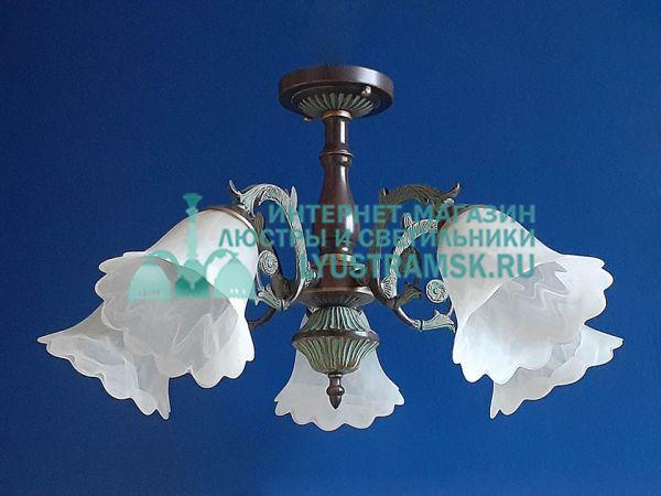 Люстра потолочная LyustraMsk ЛС 672 на 5 рожков бронза
