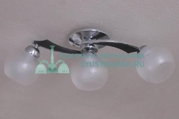 Люстра потолочная LyustraMsk ЛС 673 на 3 рожка хром венге