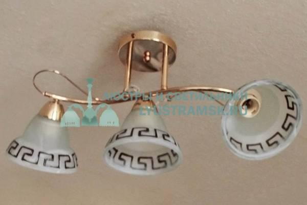 Люстра потолочная LyustraMsk  ЛС 679 на 3 рожка золото