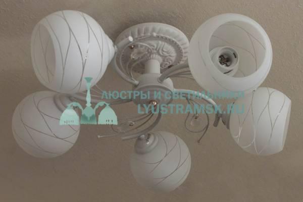 Люстра потолочная LyustraMsk ЛС 683 на 5 плафонов белый