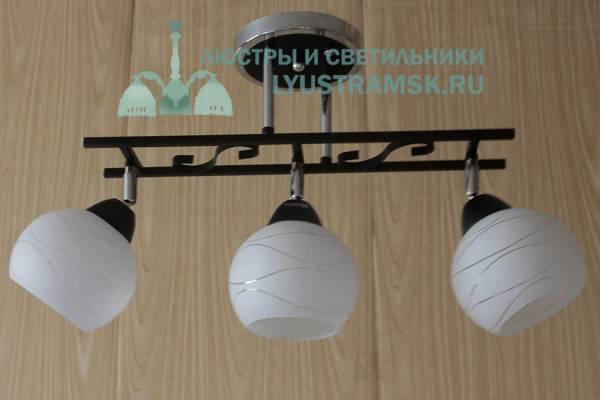 Люстра потолочная ЛС 370/3 хром/венге