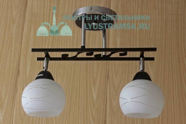 Люстра потолочная TinKo ЛС 370 на 2 плафона, хром/венге
