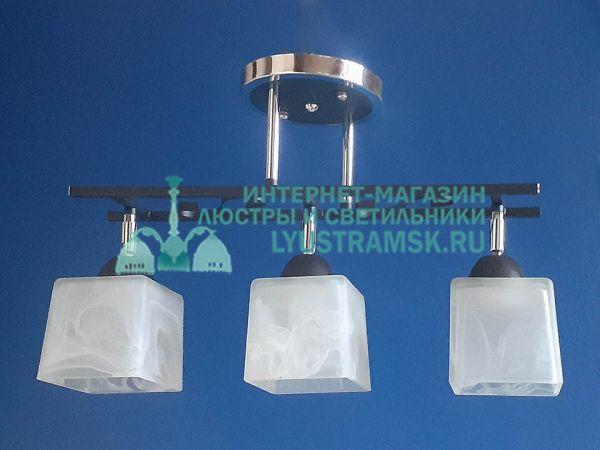 Люстра потолочная TinKo ЛС 370 на 3 плафона, хром/венге