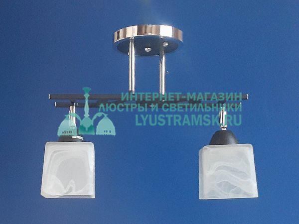 Люстра потолочная TinKo ЛС 370 на 2 рожка, хром/венге
