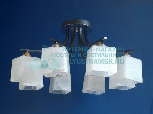 Люстра потолочная LyustraMsk ЛС 626 на 8 рожков черный/хром
