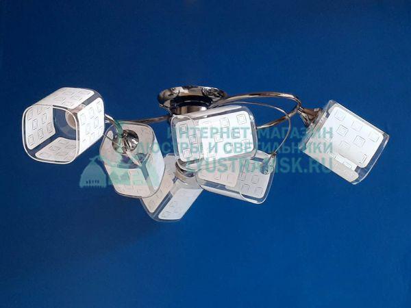 Люстра потолочная LyustraMsk ЛС 468 на 6 рожков графит