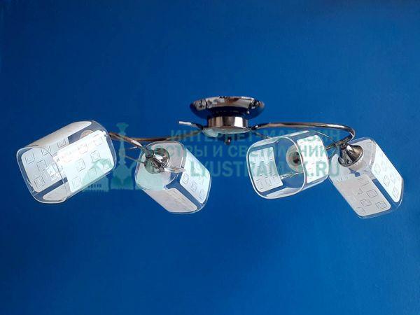 Люстра потолочная LyustraMsk ЛС 468 на 4 рожка графит
