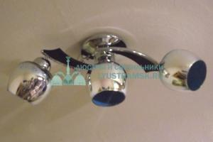 Люстра потолочная Julietta Ramona ЛС 369 на 3 рожка, хром/венге
