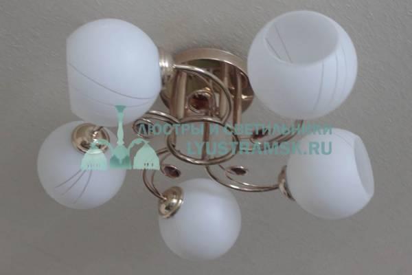 Люстра потолочная TinKo ЛС 191 на 5 рожков, золото