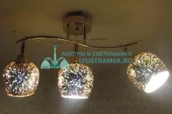Люстра потолочная Julietta Ramona ЛС 375 на 3 рожка, золото