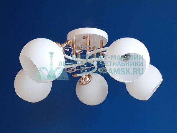 Люстра потолочная LyustraMsk  ЛС 351 на 5 рожков, белый