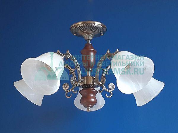 Люстра потолочная LyustraMsk ЛС 039 на 5 рожков бронза