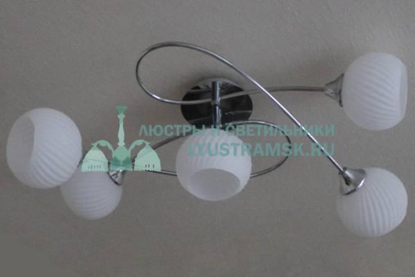 Люстра потолочная TinKo ЛС 622 на 5 рожков, хром