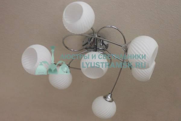 Люстра потолочная TinKo ЛС 622 на 7 рожков хайтек хром
