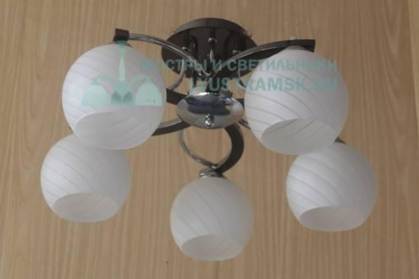 Люстра потолочная Eurosvet ЛС 692 на 5 рожков, черный/хром
