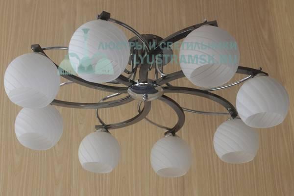 Люстра потолочная Eurosvet ЛС 692 на 8 рожков хром/венге