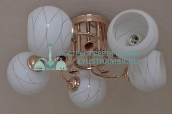 Люстра потолочная TinKo ЛС 685 на 5 рожков золото
