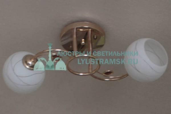 Люстра потолочная LyustraMsk  ЛС 685 на 2 рожка золото