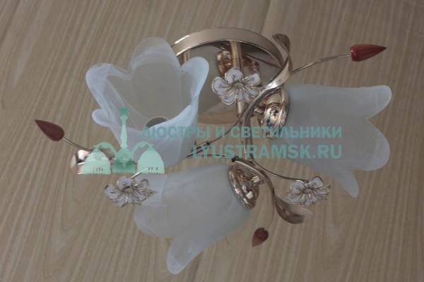 Люстра потолочная TinKo ЛС 064 на 3 рожка золото