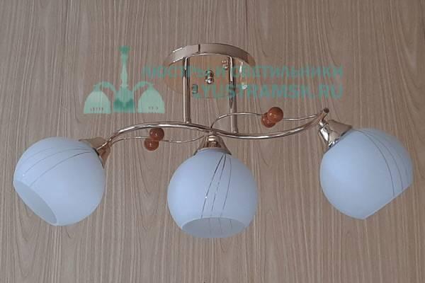 Люстра потолочная TinKo ЛС 059 на 3 рожка золото