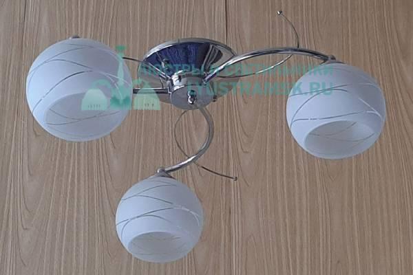 Люстра потолочная TinKo ЛС 728 на 3 рожка хром,
