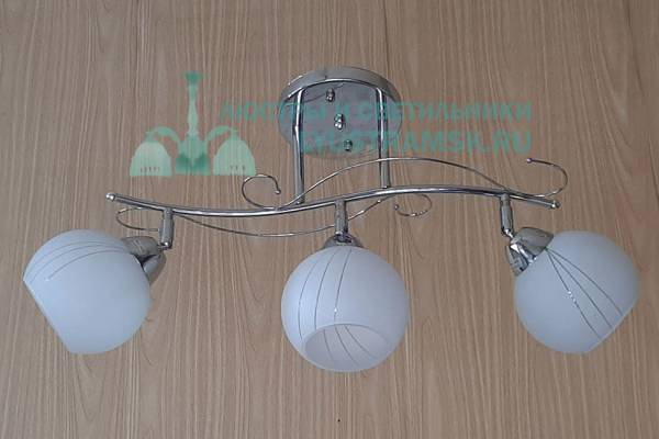 Люстра потолочная TinKo ЛС 436 на 3 рожка хром