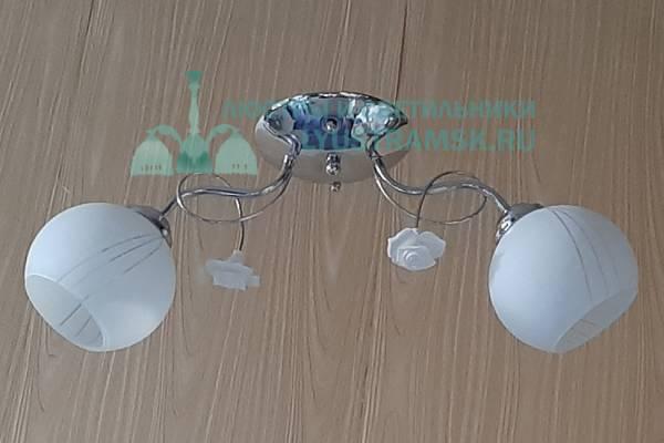 Люстра потолочная TinKo ЛС 434 на 2 рожка хром,