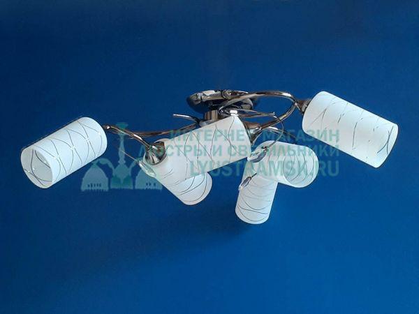 Люстра потолочная LyustraMsk ЛС 468 на 6 ламп графит