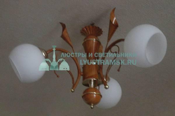 Люстра подвесная TinKo ЛС 107 на 3 рожка, бежевая