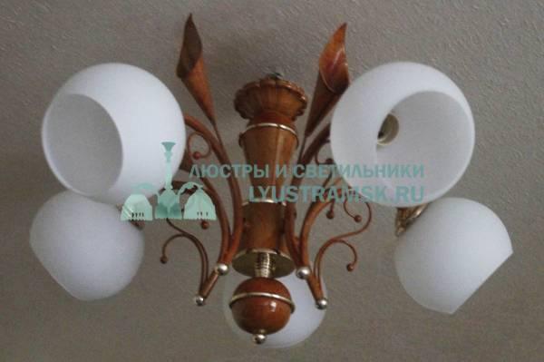 Люстра подвесная  LyustraMsk ЛС 190 на 5 рожков, бежевый