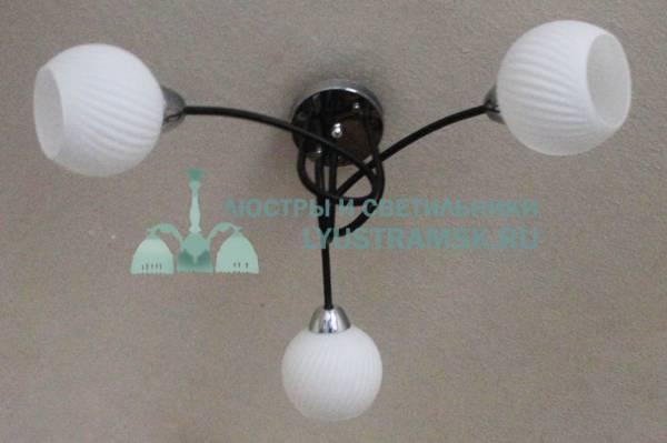 Люстра потолочная TinKo ЛС 349 на 3 рожка, венге/хром