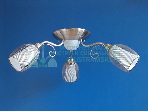 Люстра потолочная TinKo ЛС 615 на 3 рожка бронза