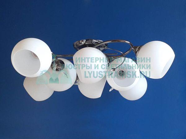 Люстра потолочная LyustraMsk ЛС 468 на 8 рожков графит