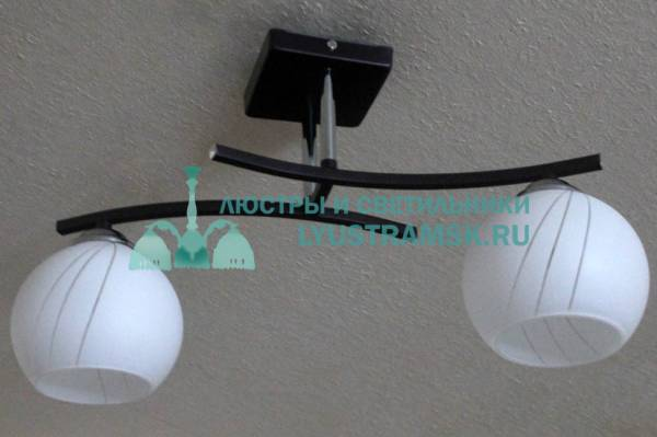 Люстра потолочная LyustraMsk. ЛС 502 на 2 рожка черный, хром
