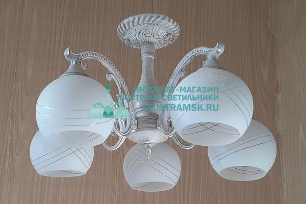 Люстра подвесная  LyustraMsk. ЛС 718 на 5 рожков патина