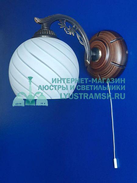 Светильник настенный(бра) Reccagni Angelo ЛС 752 на 1 рожок, бронза
