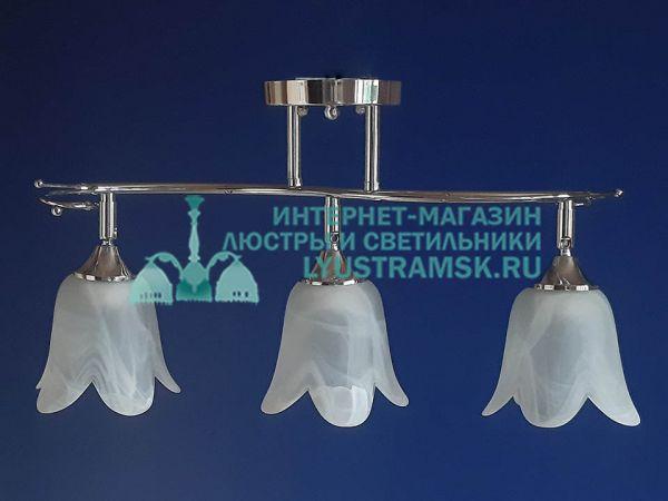 Люстра потолочная LyustraMsk. ЛС 460 на 3 рожка, хром