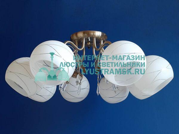 Люстра потолочная LyustraMsk. ЛС 584 на 8 рожков бронза