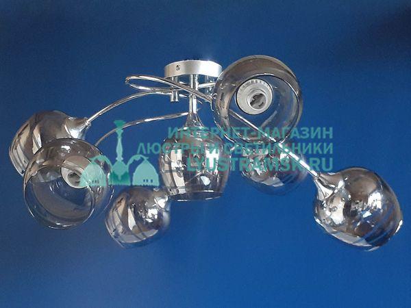 Люстра потолочная LyustraMsk ЛС 641 на 6+1 рожков, хром